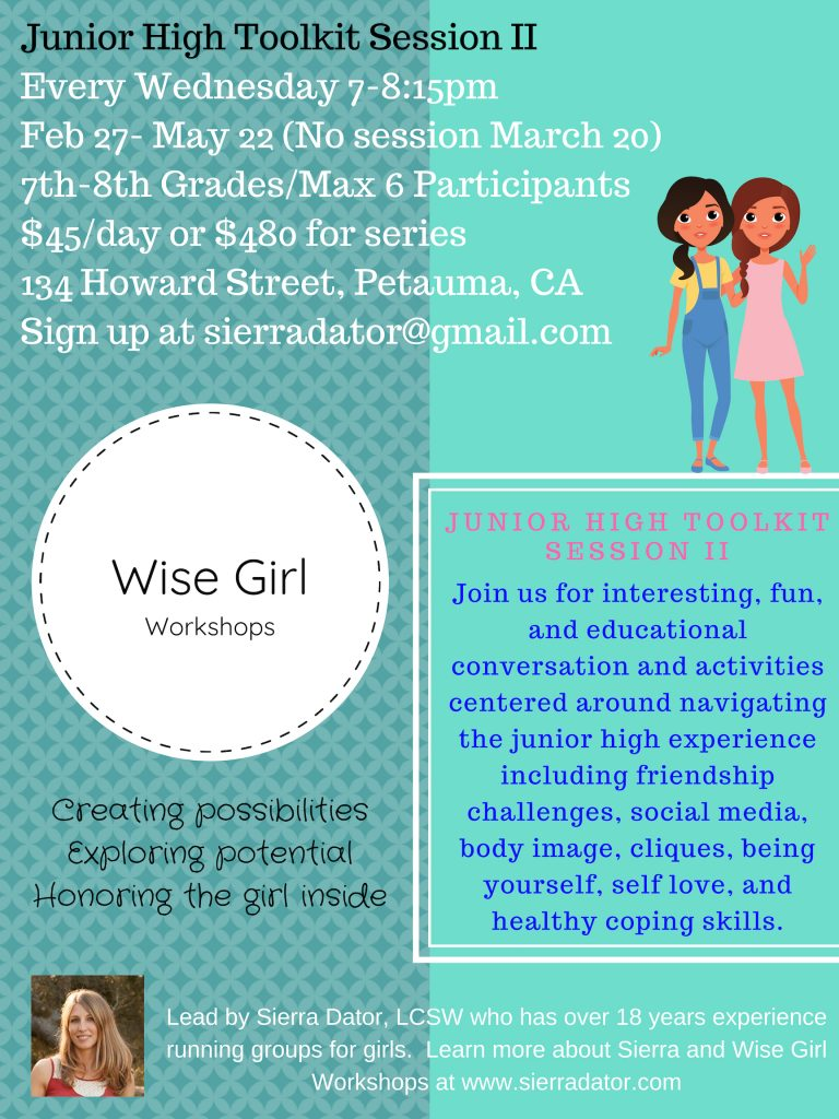 <img src=&quot;flier.jpg&quot; alt=&quot;wise girl workshops junior high toolkit session II flier&quot;>&#8221; class=&#8221;wp-image-1334&#8243;/></figure> <div class='heateorSssClear'></div><div  class='heateor_sss_sharing_container heateor_sss_horizontal_sharing' heateor-sss-data-href='https://www.sierradator.com/2019/01/wise-girl-workshops-junior-high-toolkit-session-ii/'><div class='heateor_sss_sharing_title' style=