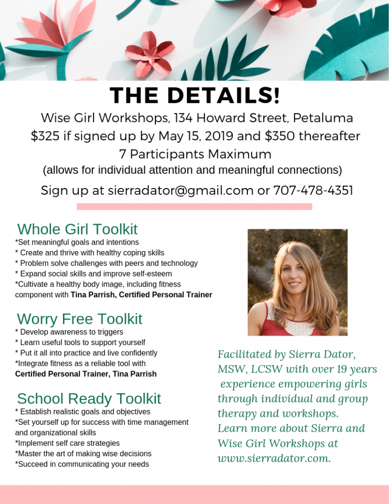 Floral Flier Wise Girl Workshops Details Summer 2019